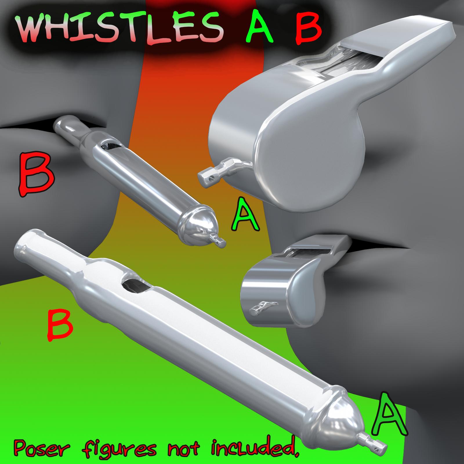 Whistles FBX_OBJ 3d model fbx obj 269010