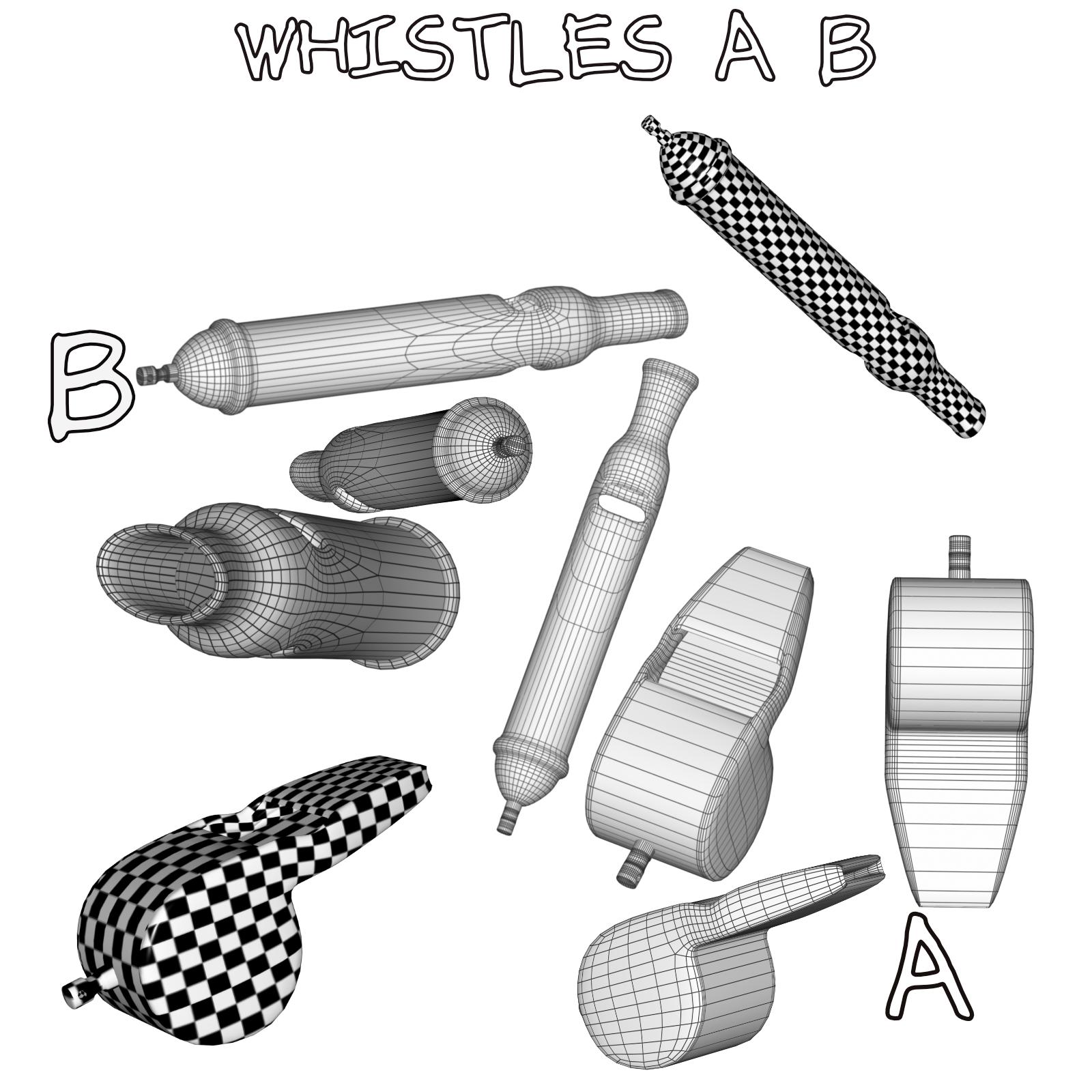 whistles fbx_obj 3d model fbx obj 269011