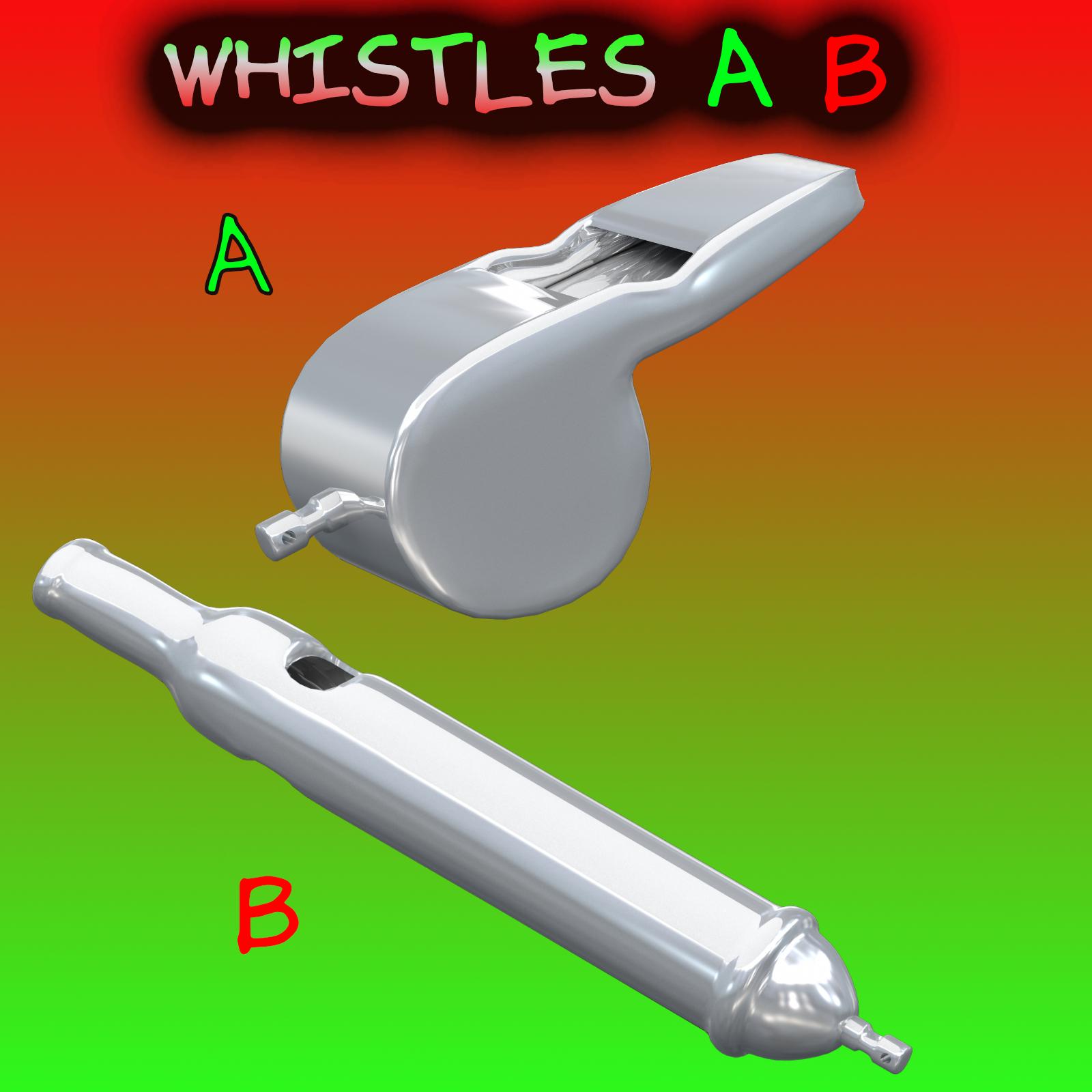 whistles fbx_obj 3d model fbx obj 269012