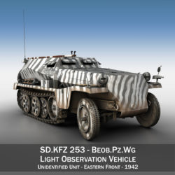 SDKFZ.253 - Beob.Pz.Wg. - Observation Vehicle 3d model 0