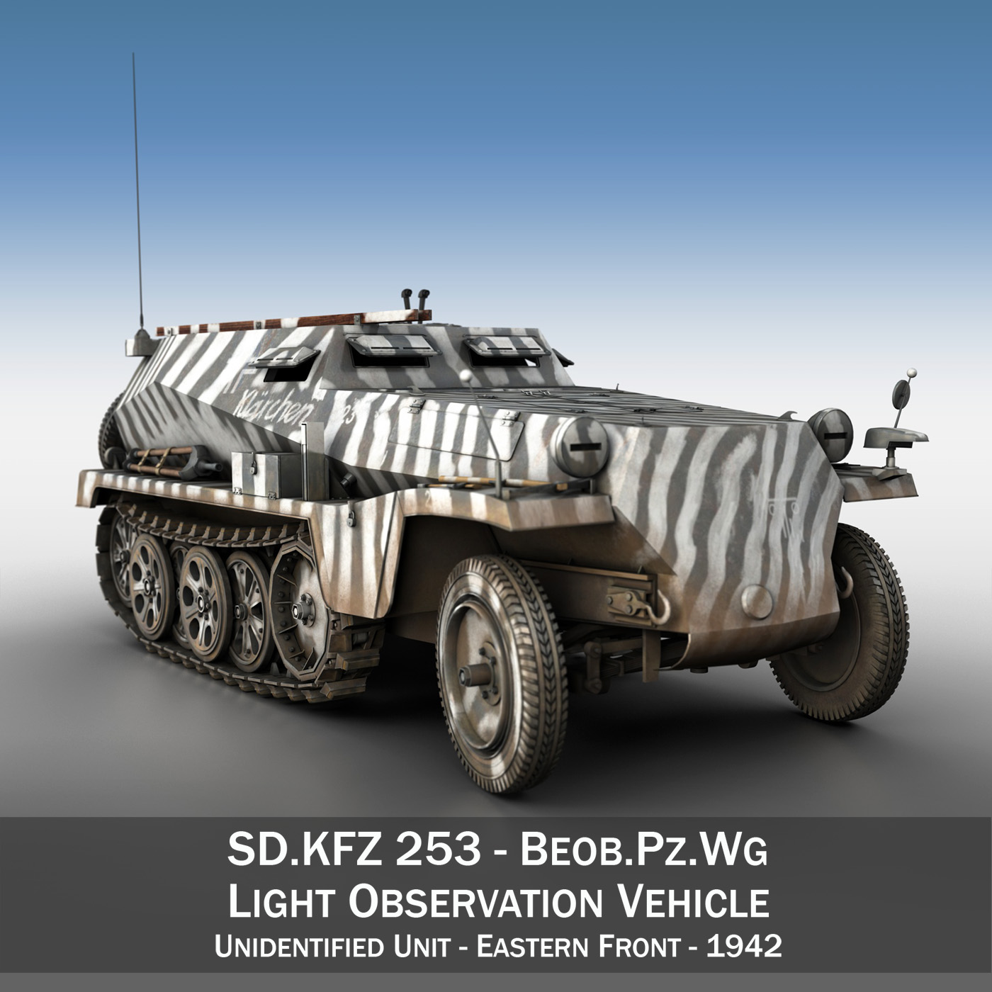 sdkfz.253 – beob.pz.wg. – observation vehicle 3d model 3ds fbx c4d lwo obj 269026