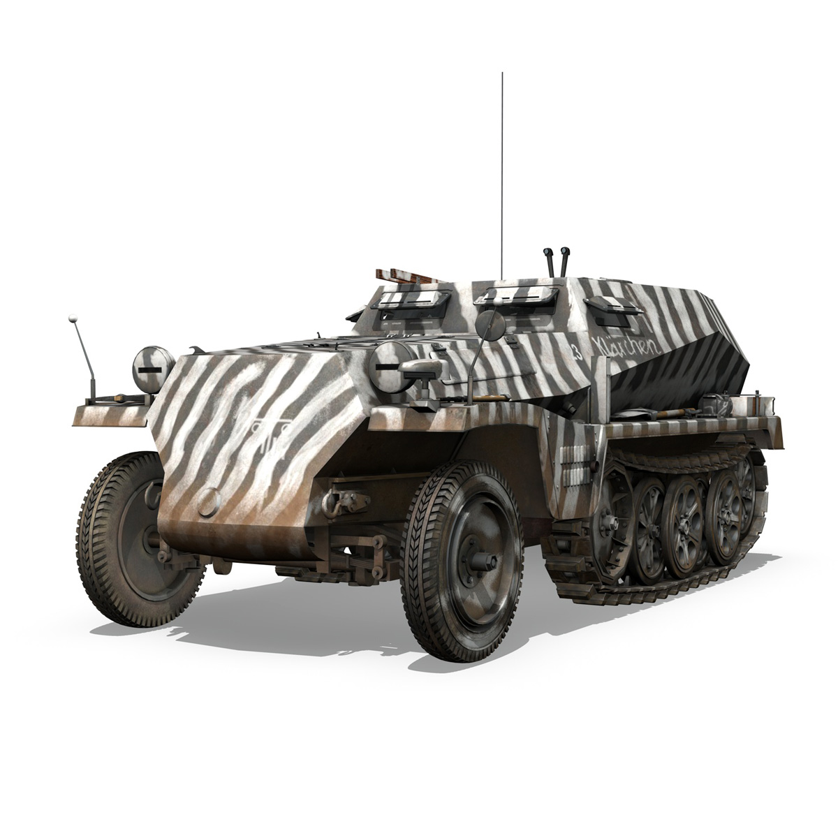 sdkfz.253 – beob.pz.wg. – observation vehicle 3d model 3ds fbx c4d lwo obj 269027