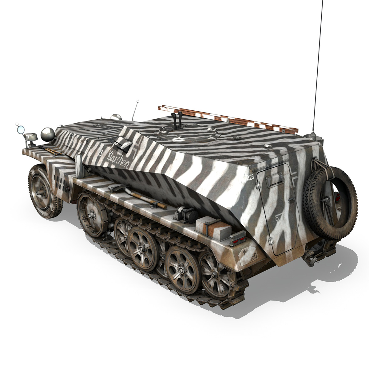 sdkfz.253 – beob.pz.wg. – observation vehicle 3d model 3ds fbx c4d lwo obj 269030