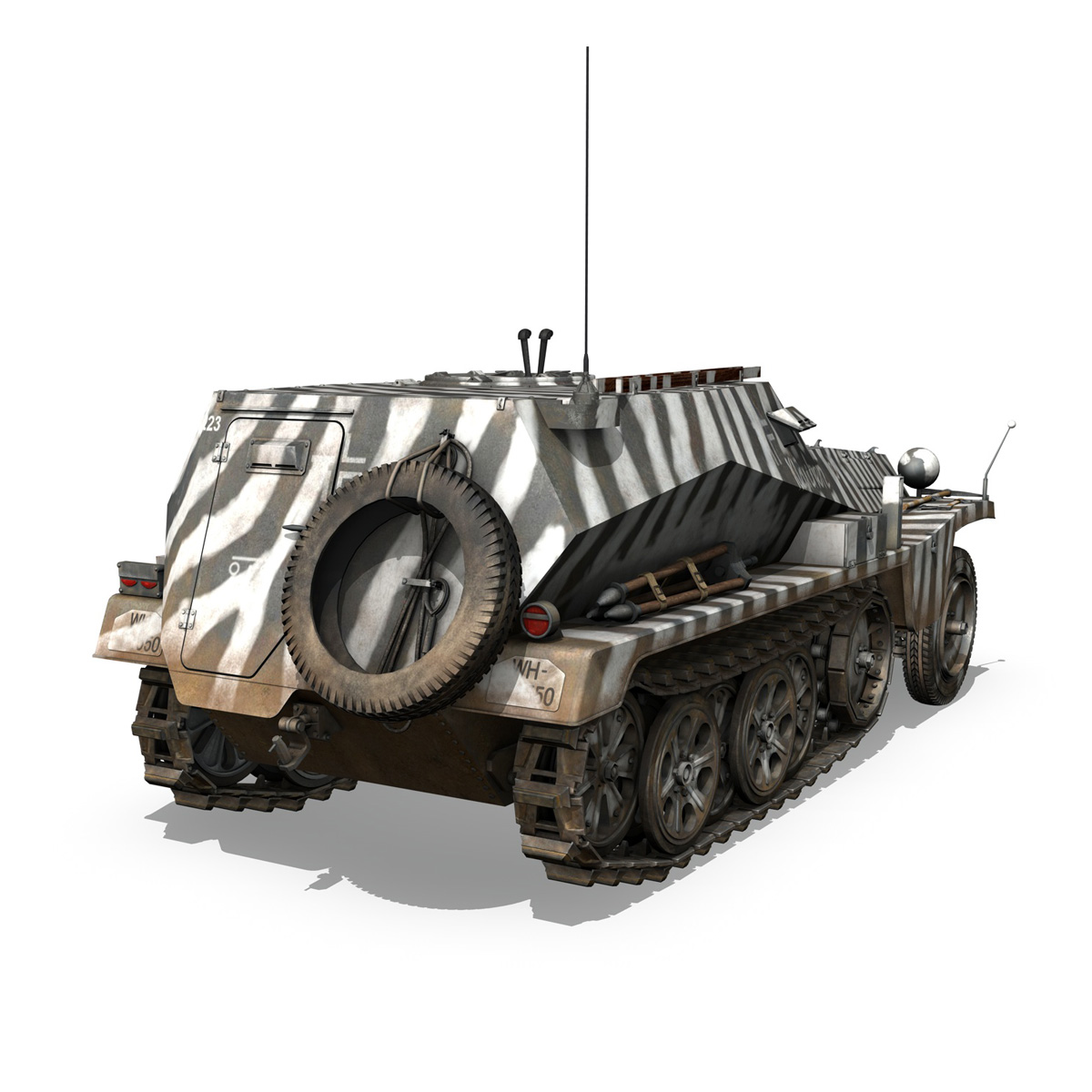 sdkfz.253 – beob.pz.wg. – observation vehicle 3d model 3ds fbx c4d lwo obj 269031