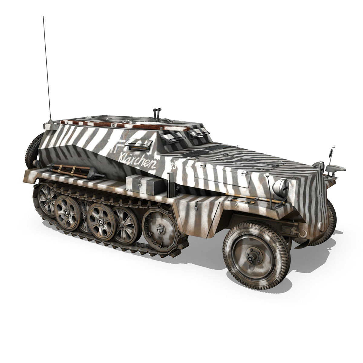 sdkfz.253 – beob.pz.wg. – observation vehicle 3d model 3ds fbx c4d lwo obj 269033
