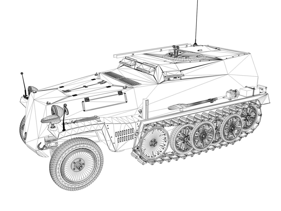SDKFZ.253 - Beob.Pz.Wg. - Observation Vehicle 3d model high poly virtual reality 3ds fbx c4d lwo lws lw obj