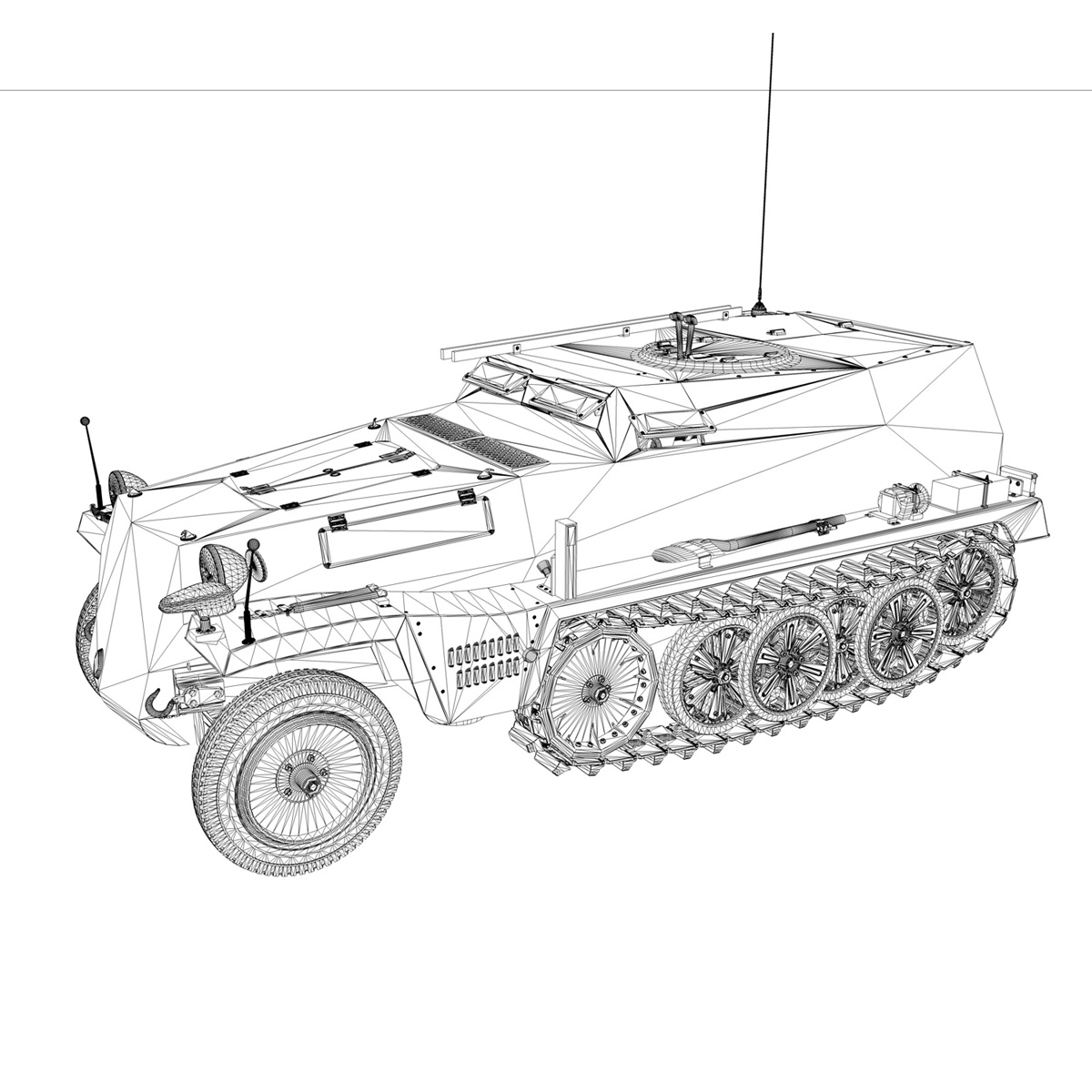 sdkfz.253 – beob.pz.wg. – observation vehicle 3d model 3ds fbx c4d lwo obj 269038