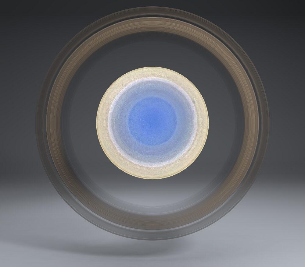 Saturn 4k Globe 3d model 0