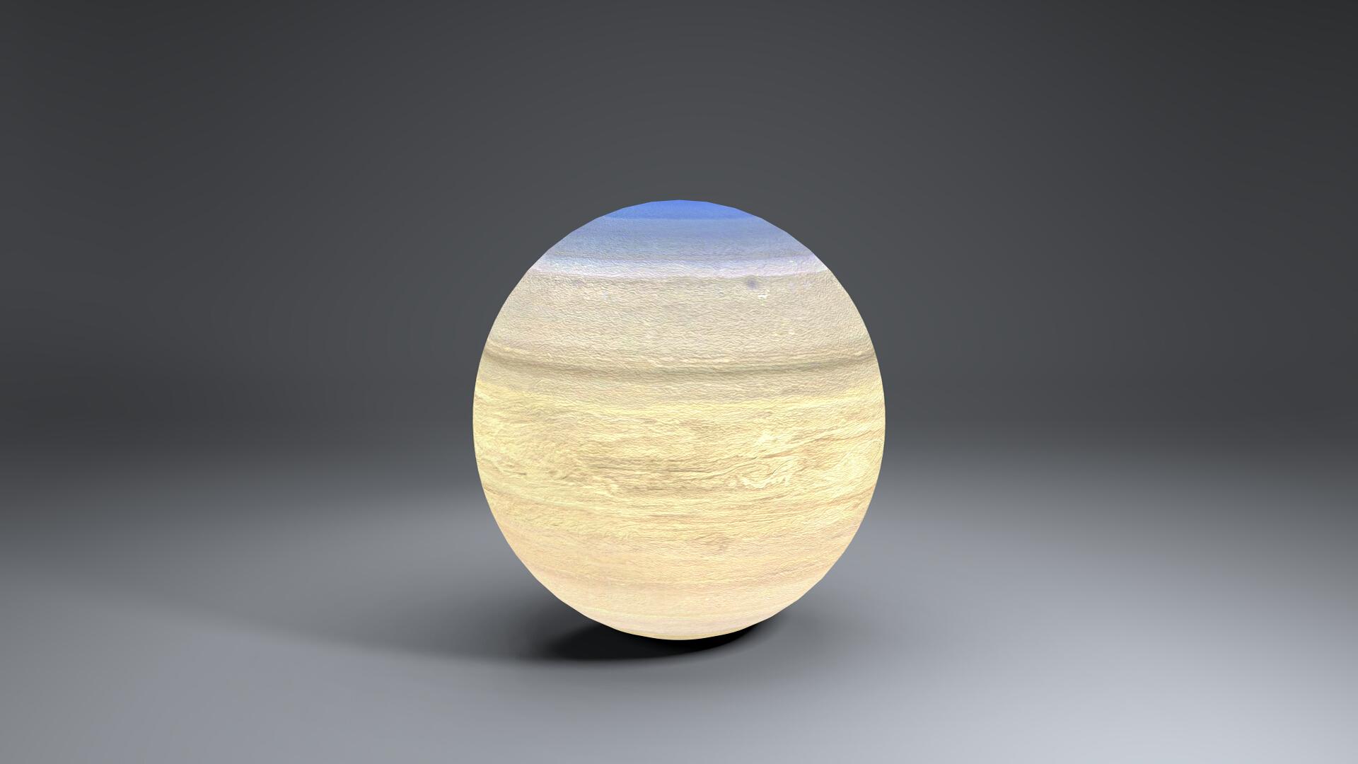saturn 4k globe 3d model 3ds fbx blend dae obj 269054