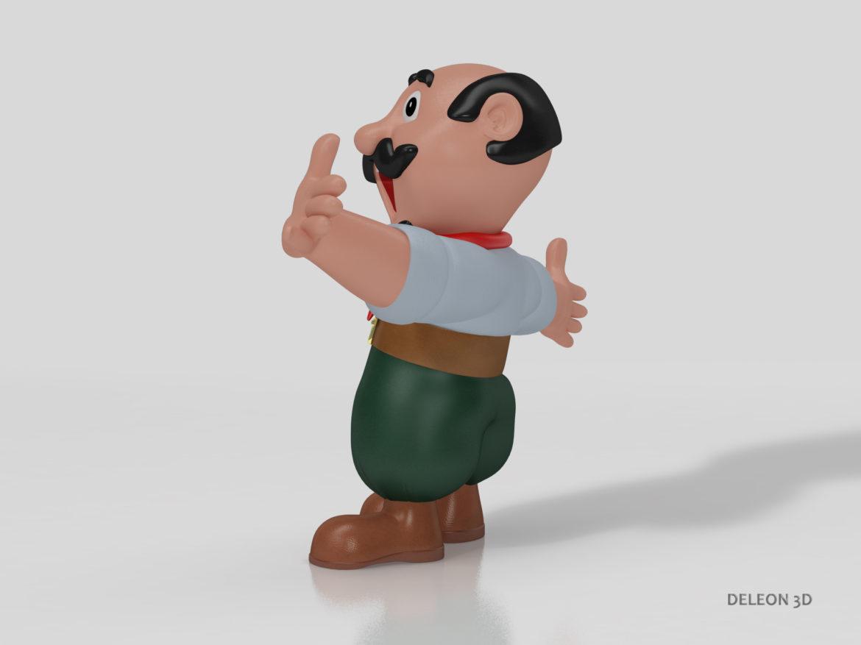 Character Gaucho 3d model 0