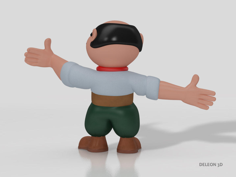 Character Gaucho 3d model 3d printing low poly render ready max fbx c4d lxo   obj
