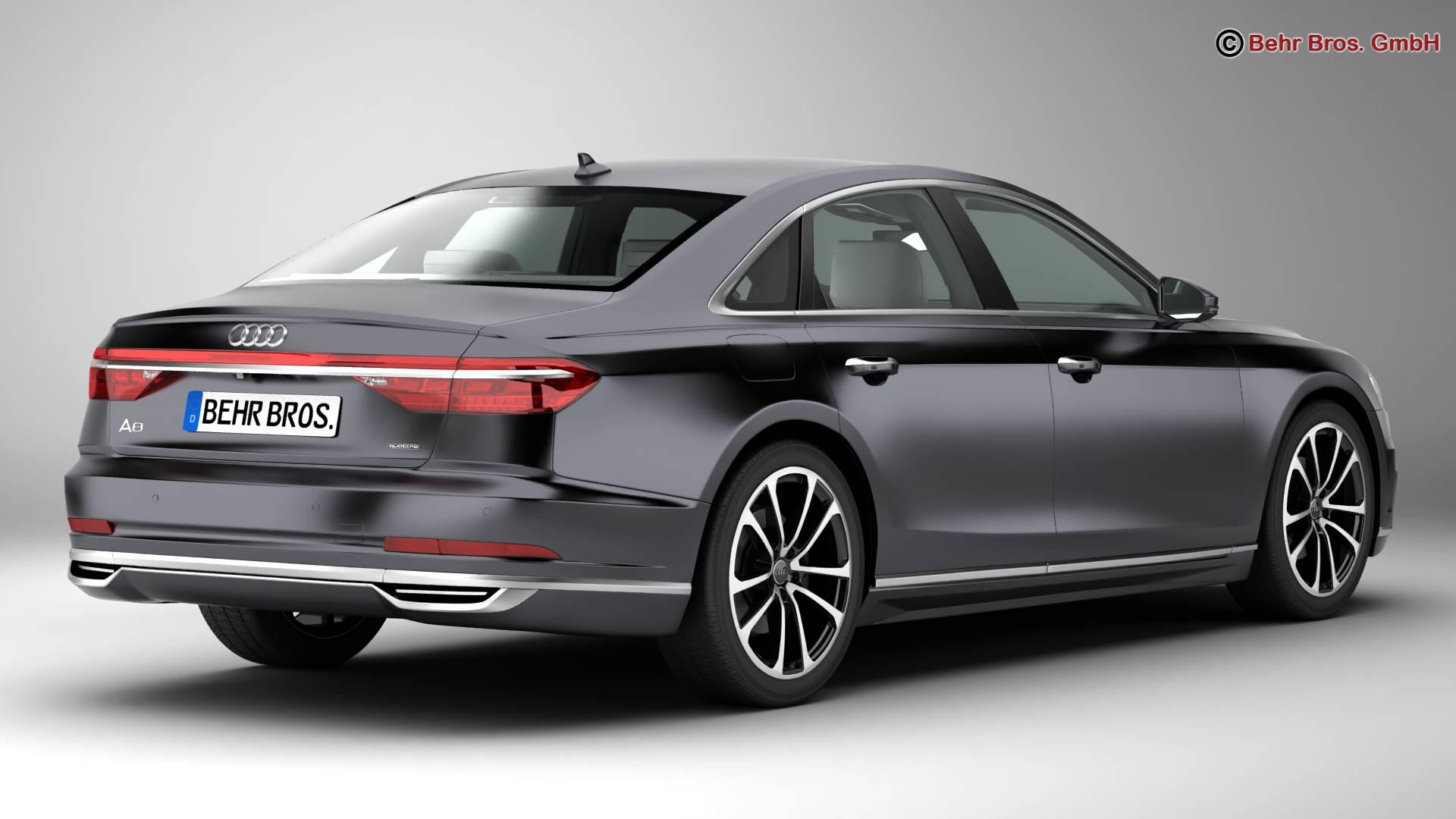 Audi A8 2018 3d Model Buy Audi A8 2018 3d Model