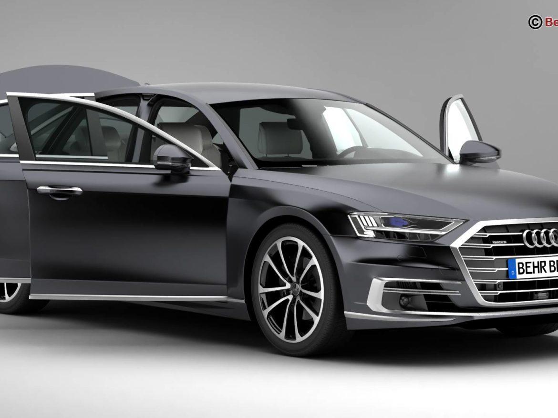 Audi A8 2018 3d model high poly 3ds
