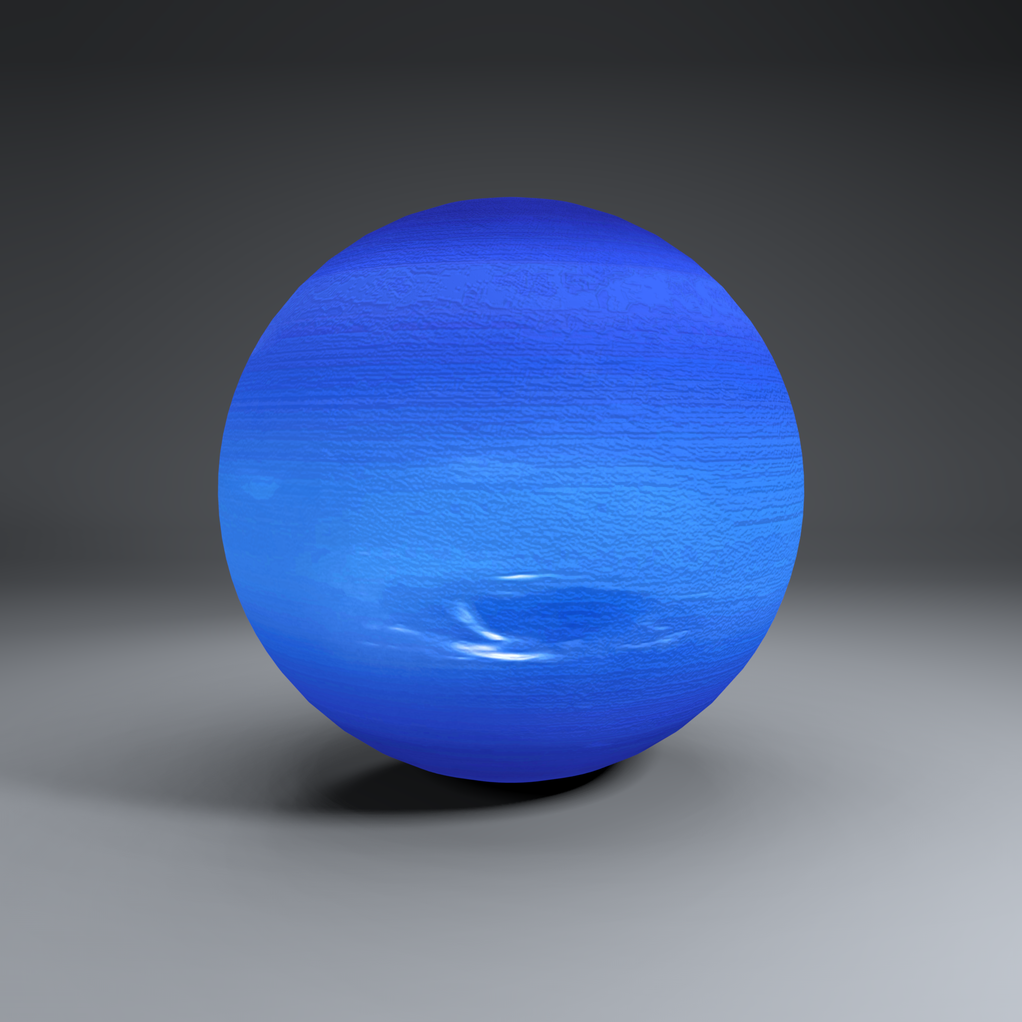 neptune 2k globe 3d model 3ds fbx blend dae obj 269170