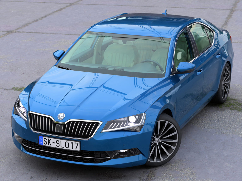 Skoda Superb 2018 3d model 0