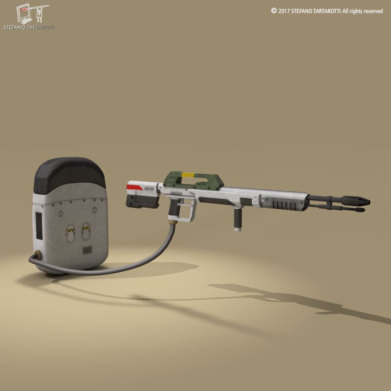 sci-fi flamethrower 3d model 3ds dxf fbx c4d dae obj 269227