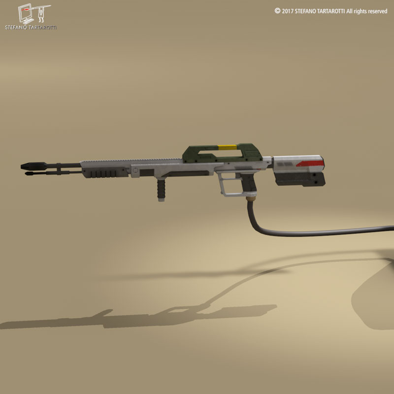sci-fi flamethrower 3d model 3ds dxf fbx c4d dae obj 269229