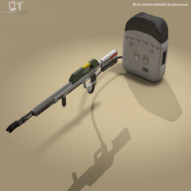sci-fi flamethrower 3d model 3ds dxf fbx c4d dae obj 269230