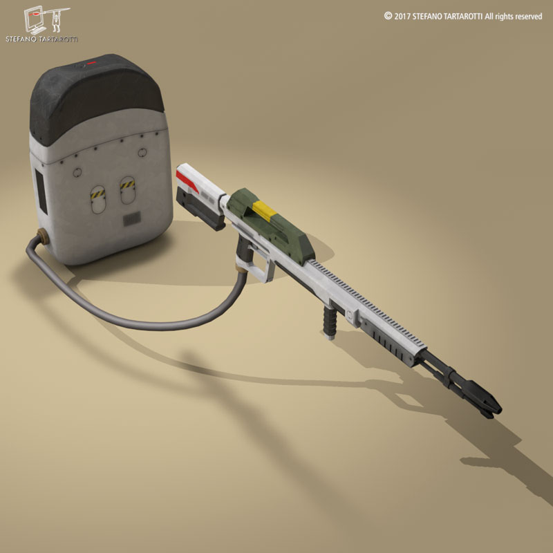 sci-fi flamethrower 3d model 3ds dxf fbx c4d dae obj 269231