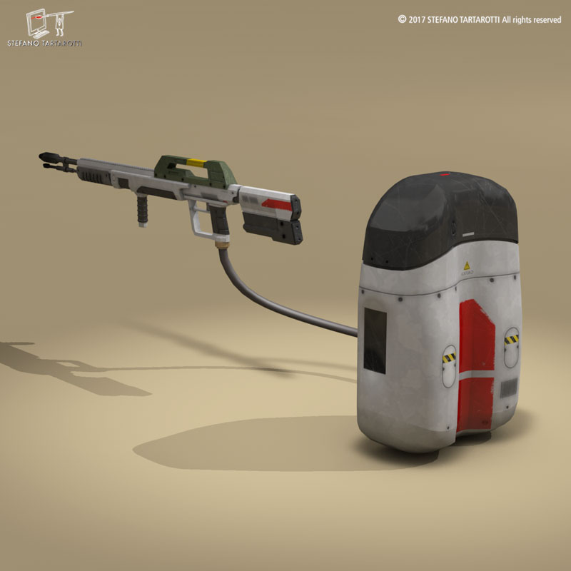 sci-fi flamethrower 3d model 3ds dxf fbx c4d dae obj 269232