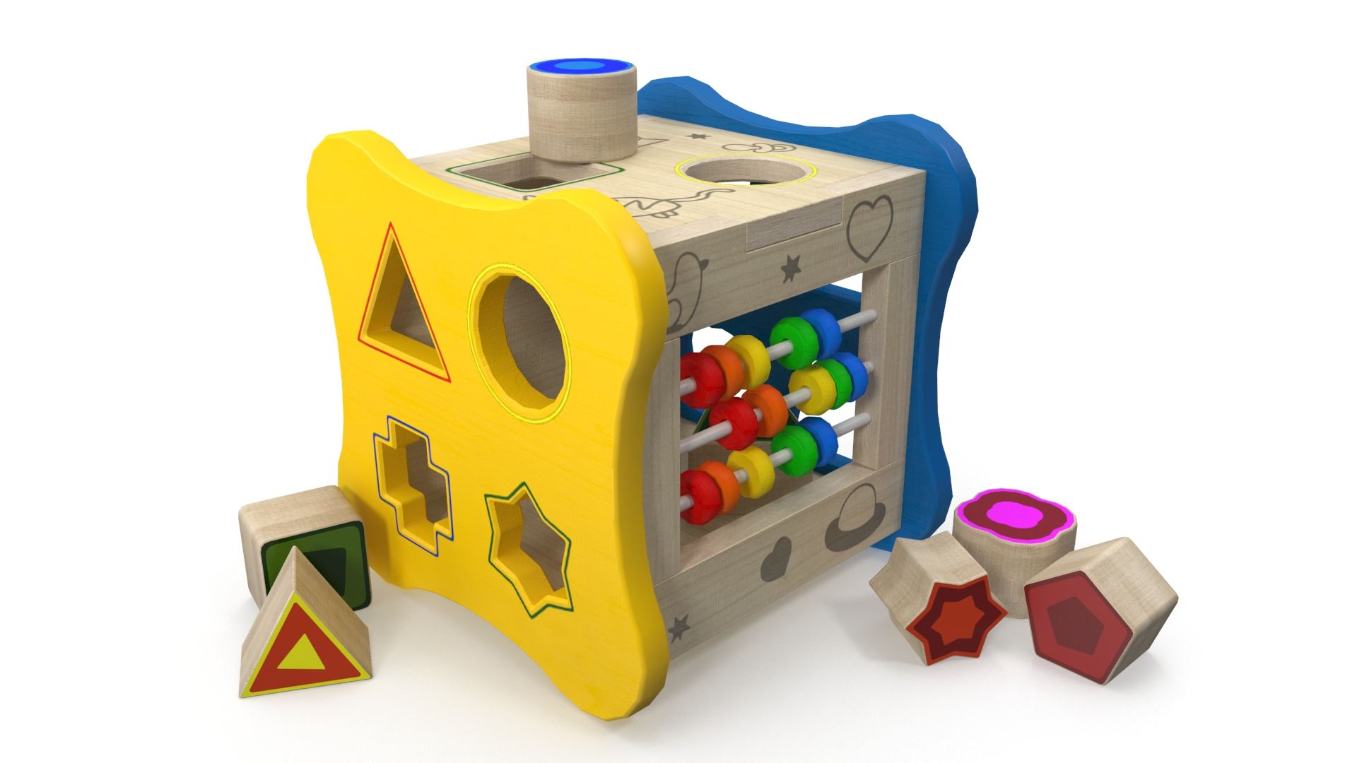Children's puzzle 3d model 3ds max fbx c4d obj 269243