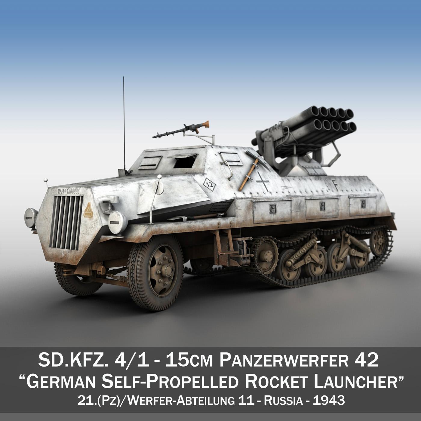 sdkfz 4 / 1 - panzerwerfer 42 - wa11 3d samhail 3ds fbx c4d lwo obj 269347