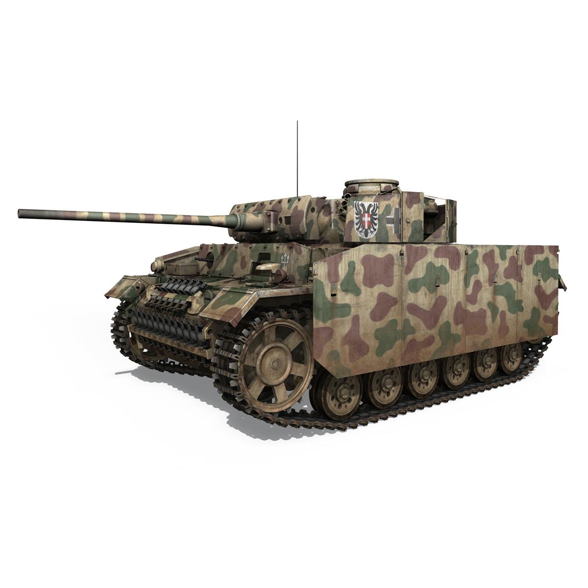 pzkpfw iii – panzer 3 – ausf.m – 413 3d model 3ds c4d lwo obj 269365