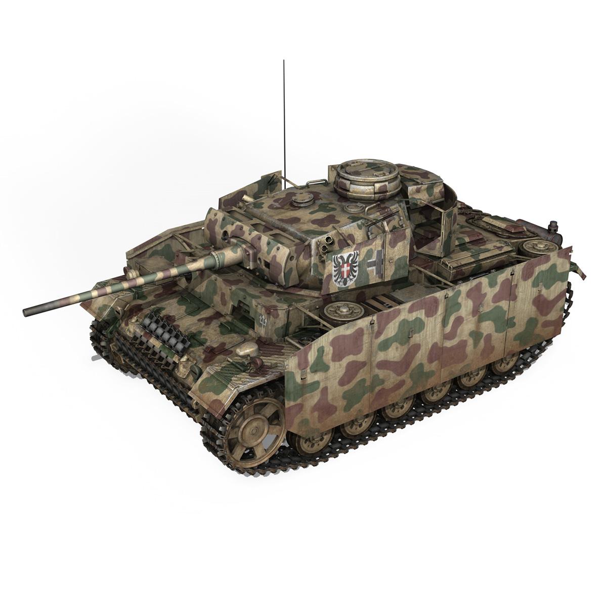 pzkpfw iii – panzer 3 – ausf.m – 413 3d model 3ds c4d lwo obj 269366