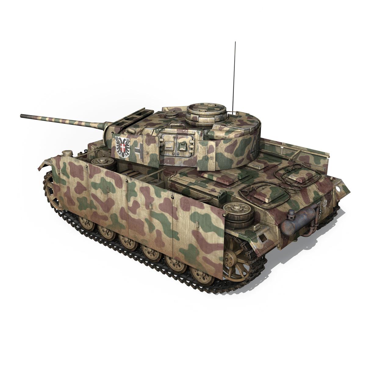 pzkpfw iii – panzer 3 – ausf.m – 413 3d model 3ds c4d lwo obj 269367