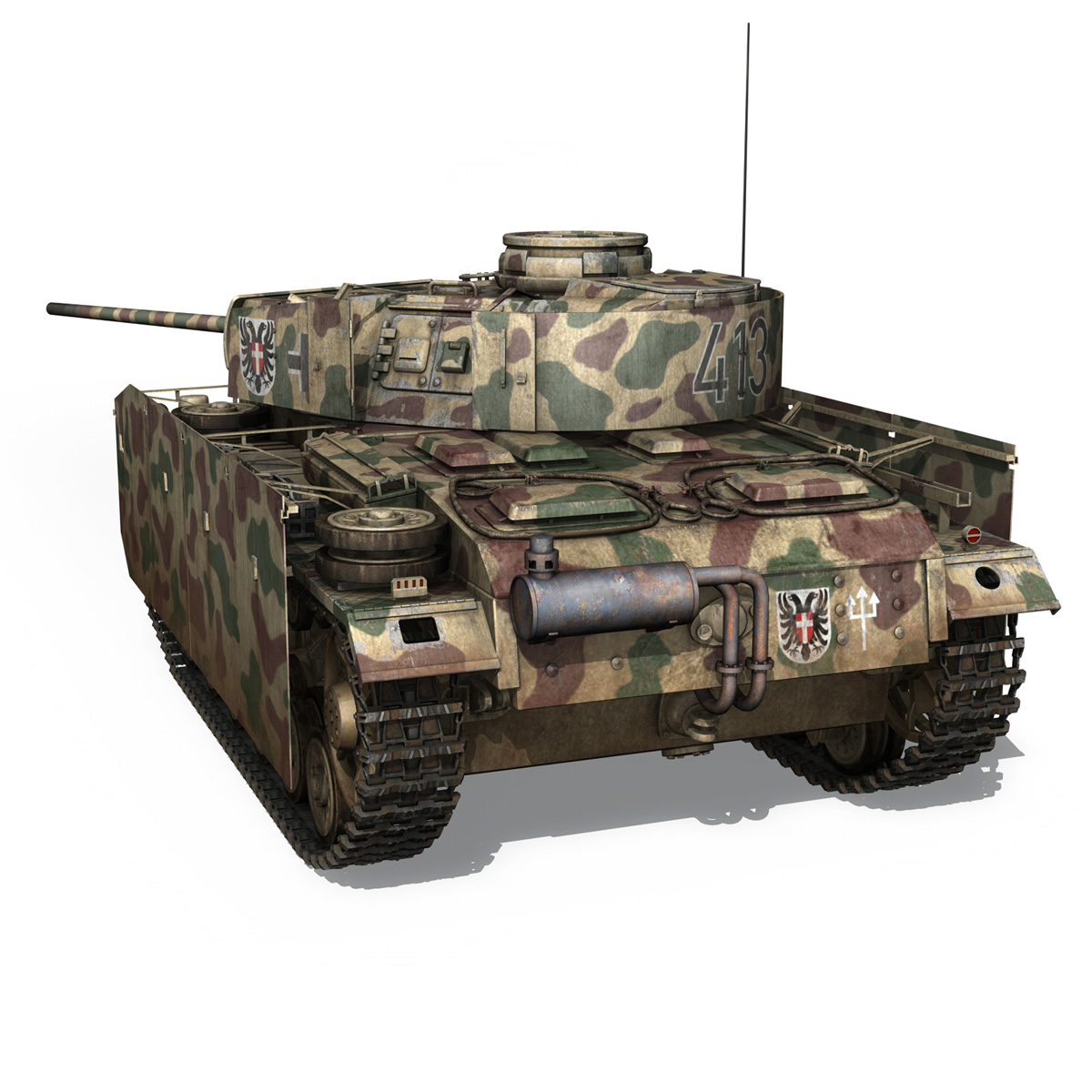 pzkpfw iii – panzer 3 – ausf.m – 413 3d model 3ds c4d lwo obj 269368