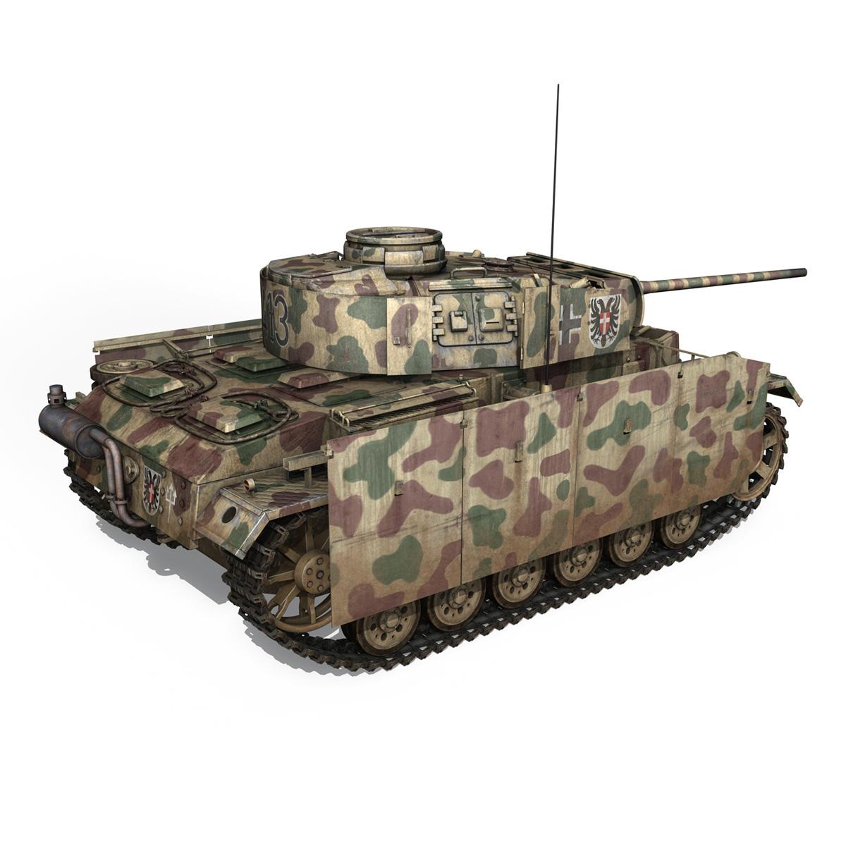 pzkpfw iii – panzer 3 – ausf.m – 413 3d model 3ds c4d lwo obj 269369