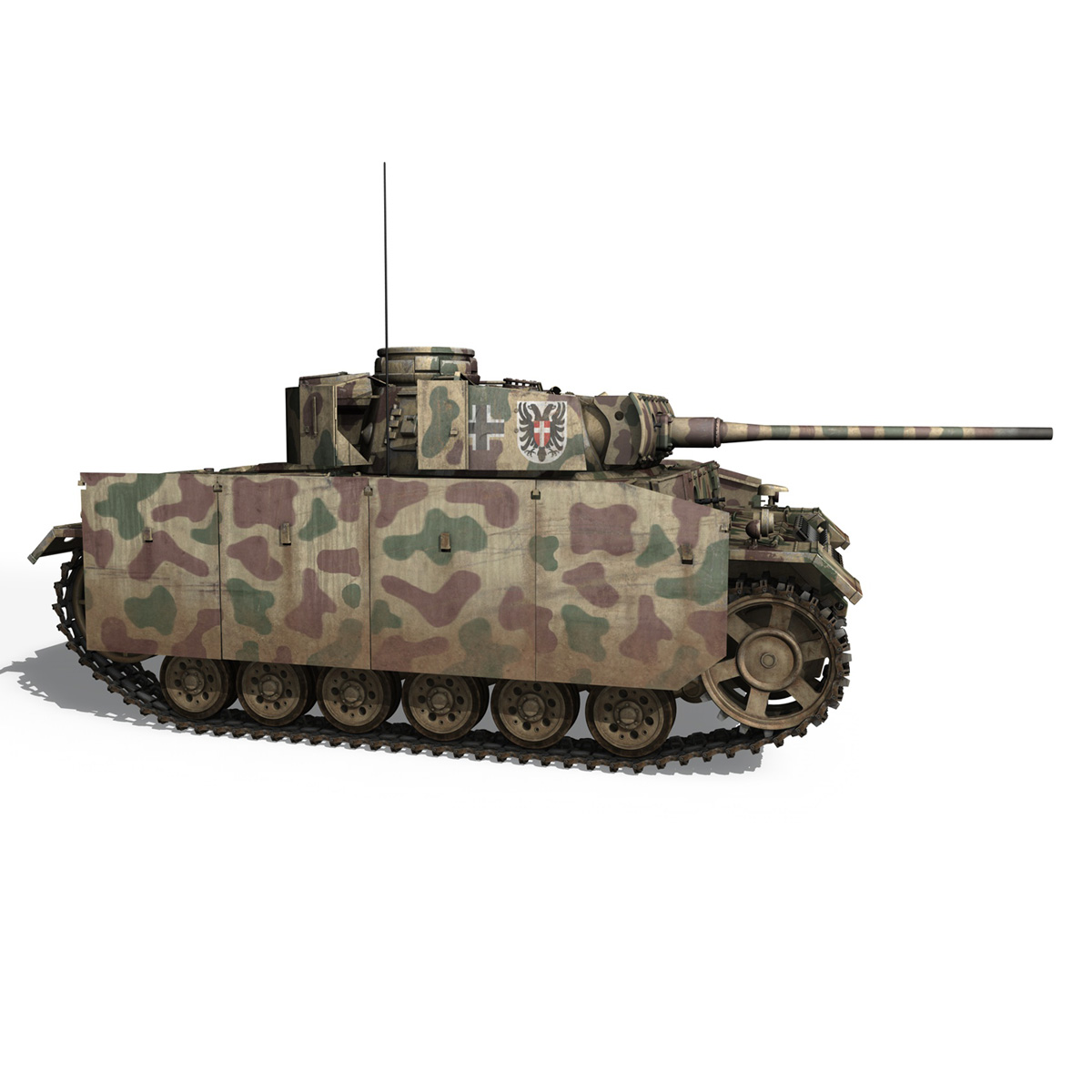 pzkpfw iii – panzer 3 – ausf.m – 413 3d model 3ds c4d lwo obj 269370