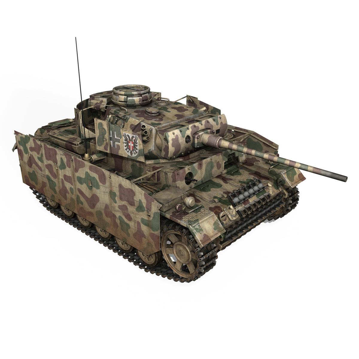 pzkpfw iii – panzer 3 – ausf.m – 413 3d model 3ds c4d lwo obj 269371