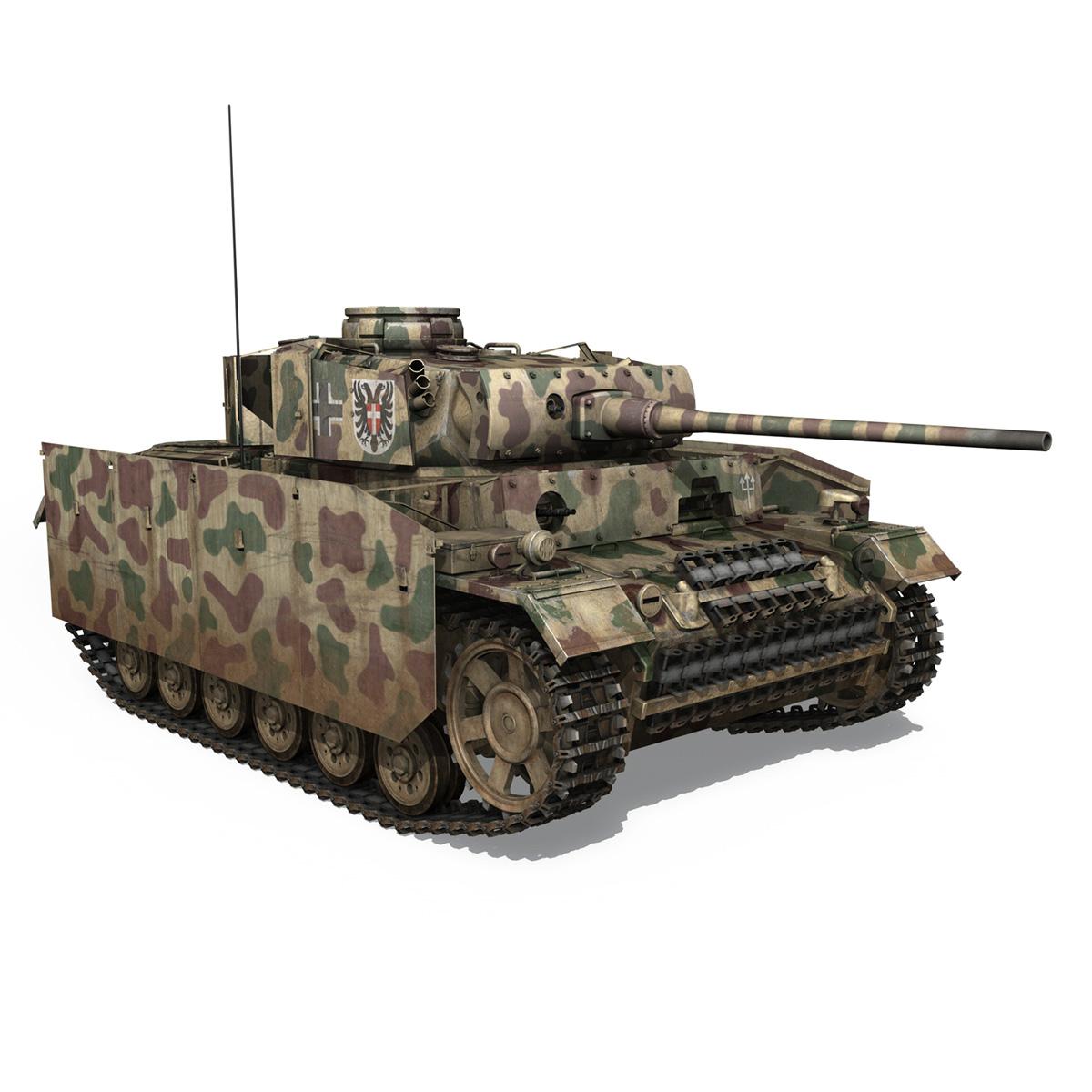pzkpfw iii – panzer 3 – ausf.m – 413 3d model 3ds c4d lwo obj 269372