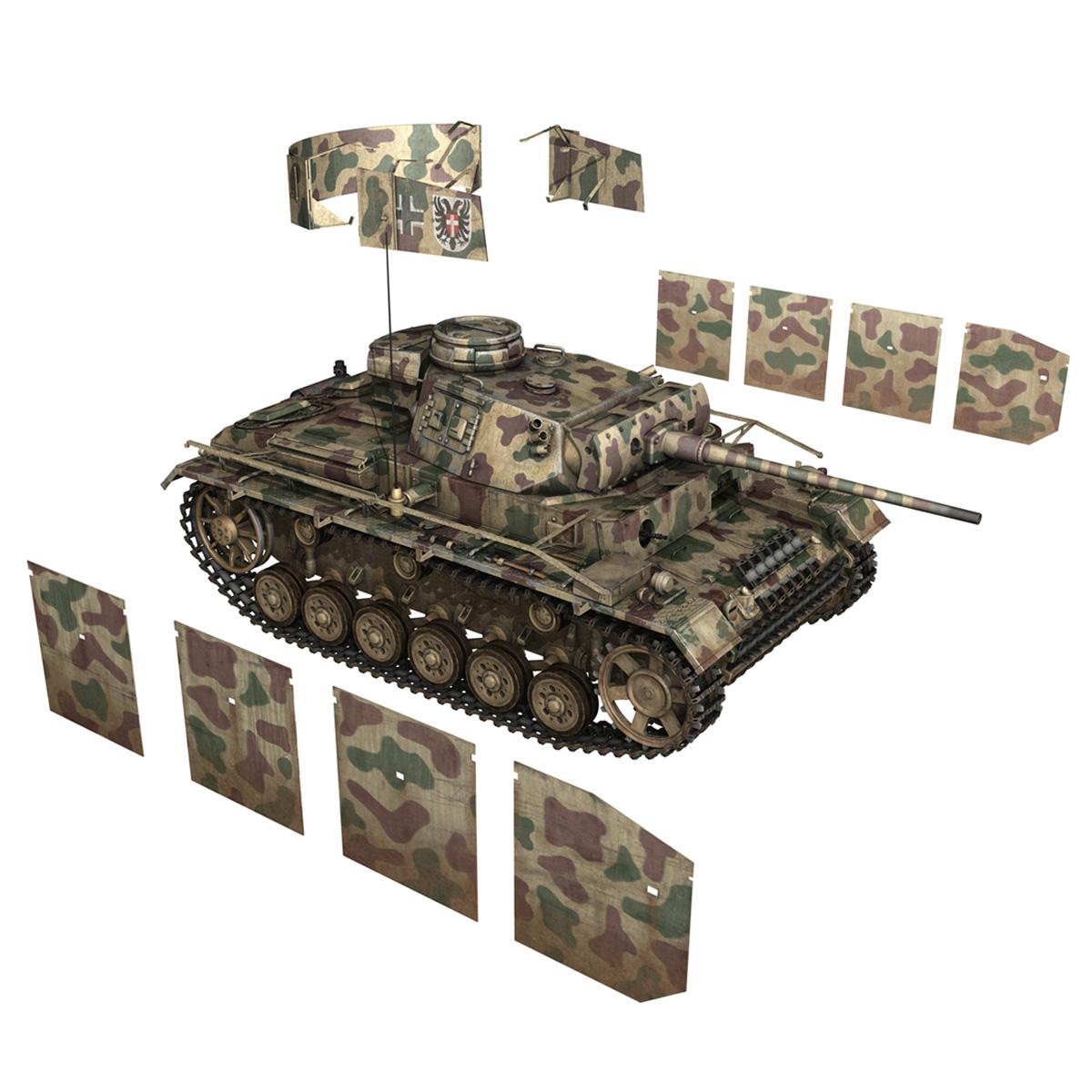 pzkpfw iii – panzer 3 – ausf.m – 413 3d model 3ds c4d lwo obj 269373