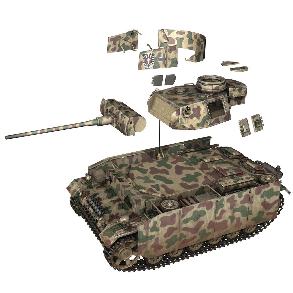 pzkpfw iii – panzer 3 – ausf.m – 413 3d model 3ds c4d lwo obj 269374