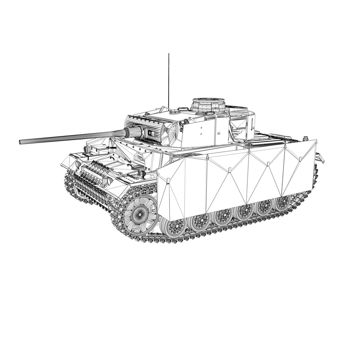 pzkpfw iii – panzer 3 – ausf.m – 413 3d model 3ds c4d lwo obj 269377