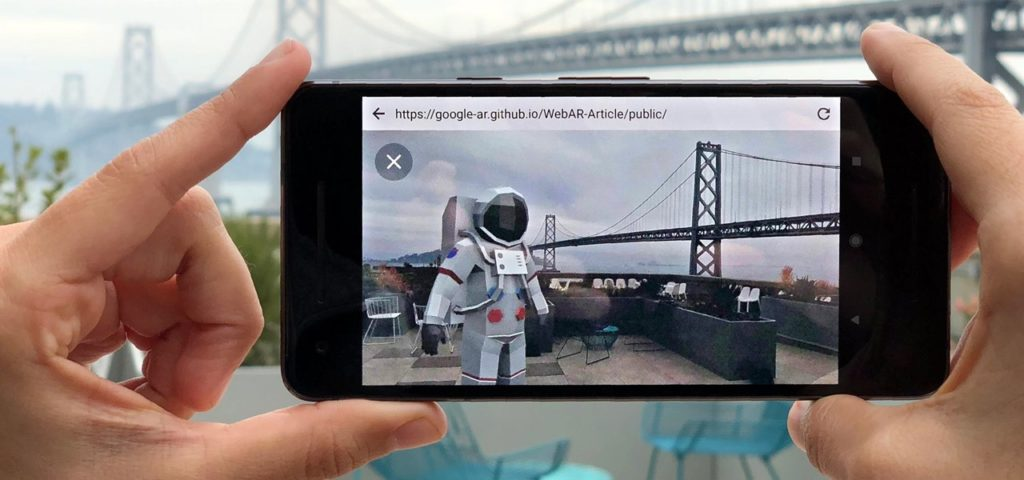 Google AR prototype 3d model viewing through web browsers