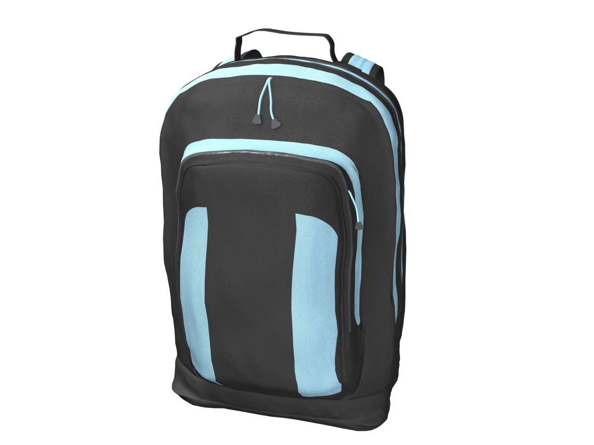 simple backpack 3d model max fbx texture obj 269422
