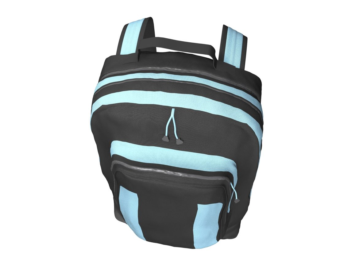 simple backpack 3d model max fbx texture obj 269425