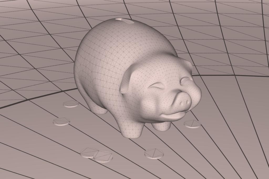 piggy bank 3d model 3ds max fbx dae obj 269458