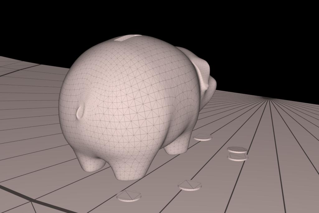 piggy bank 3d model 3ds max fbx dae obj 269460