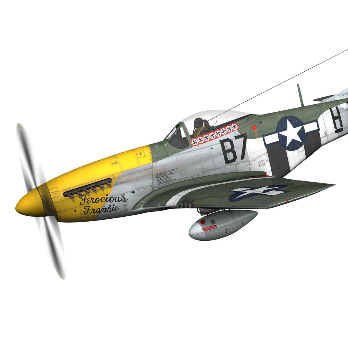 north american p-51d mustang – ferocious frankie 3d model fbx c4d lwo obj 269486