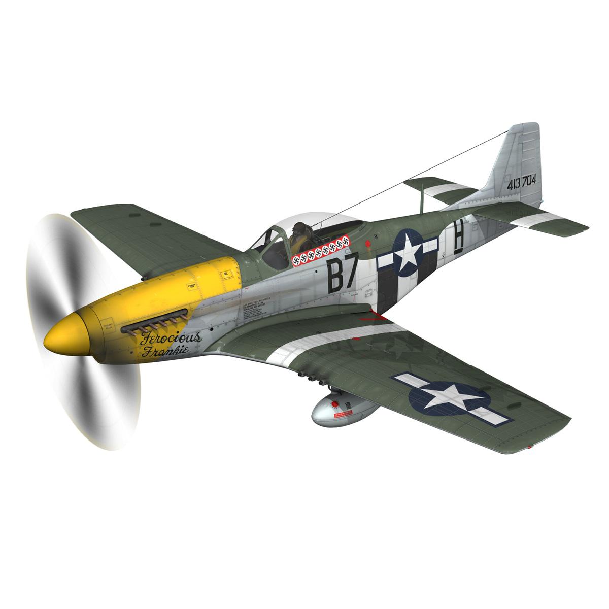 north american p-51d mustang – ferocious frankie 3d model fbx c4d lwo obj 269487