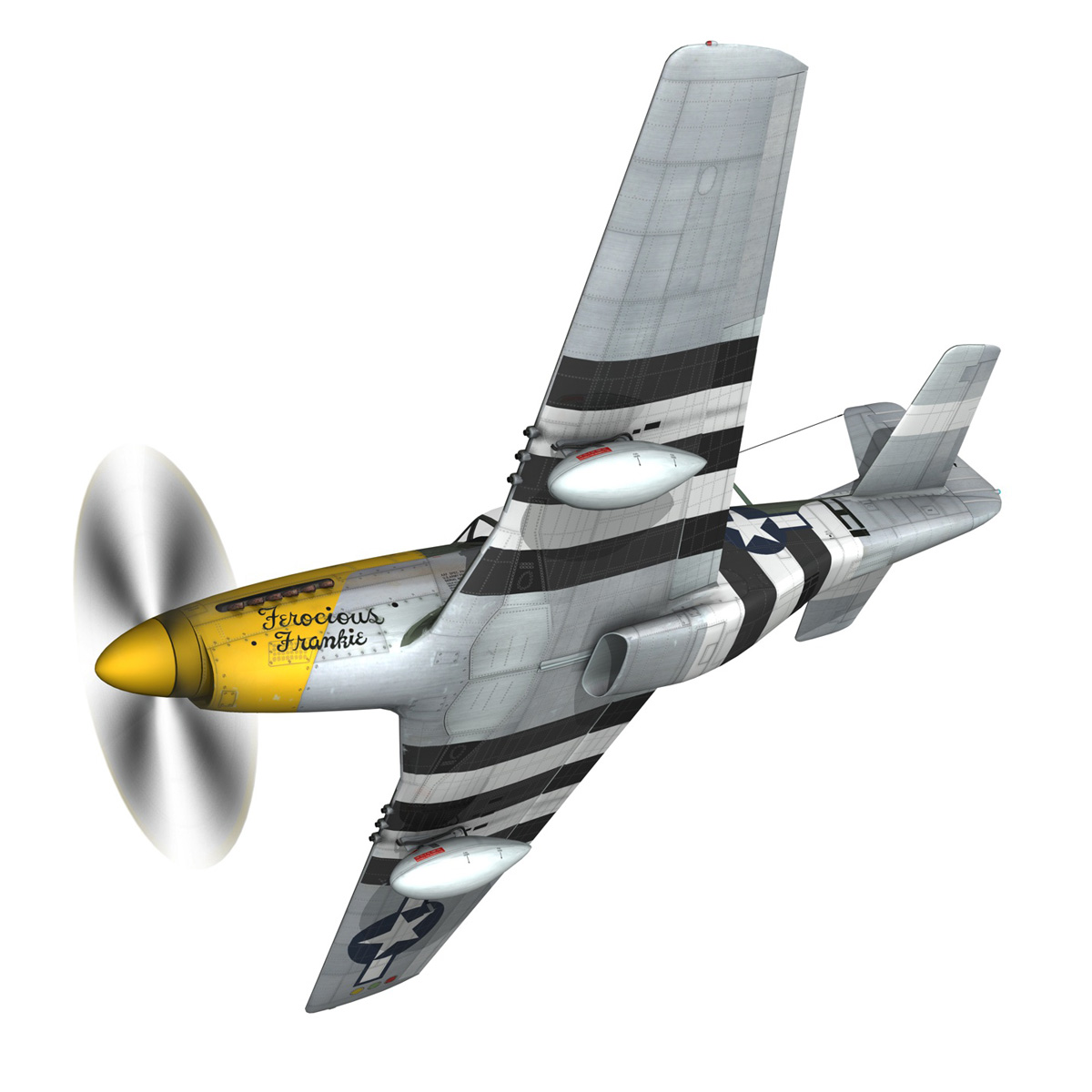 north american p-51d mustang – ferocious frankie 3d model fbx c4d lwo obj 269488