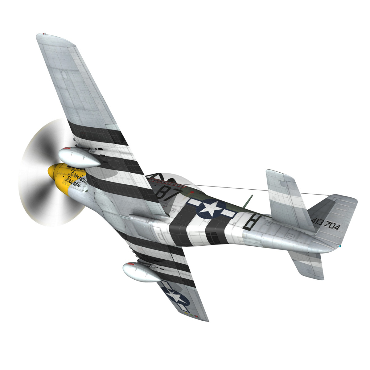 north american p-51d mustang – ferocious frankie 3d model fbx c4d lwo obj 269489