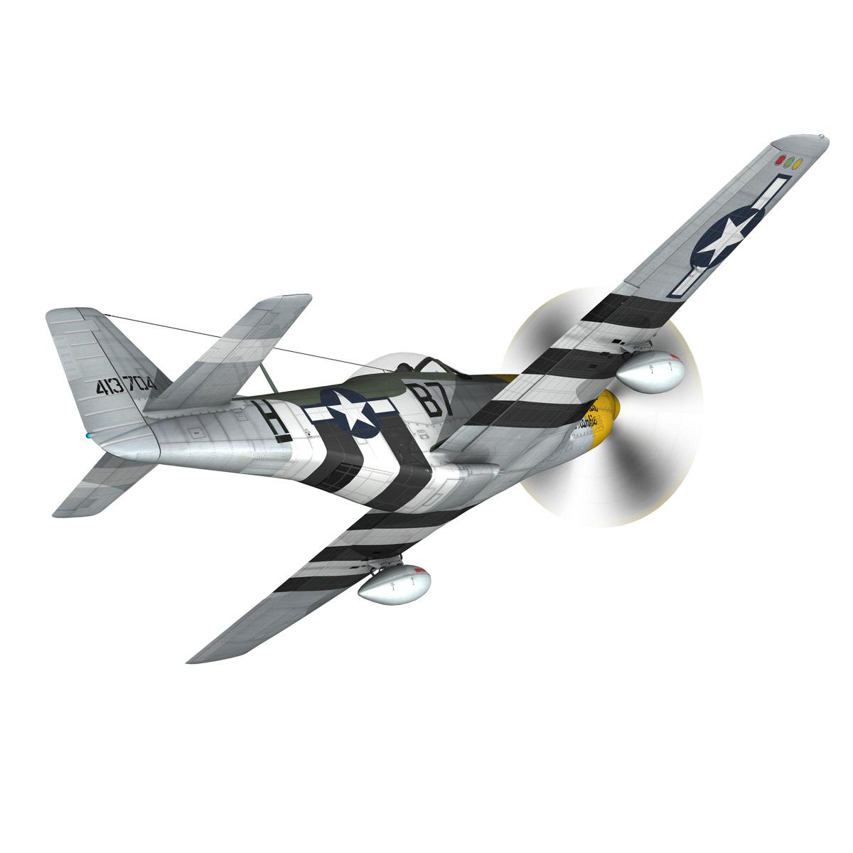 north american p-51d mustang – ferocious frankie 3d model fbx c4d lwo obj 269491