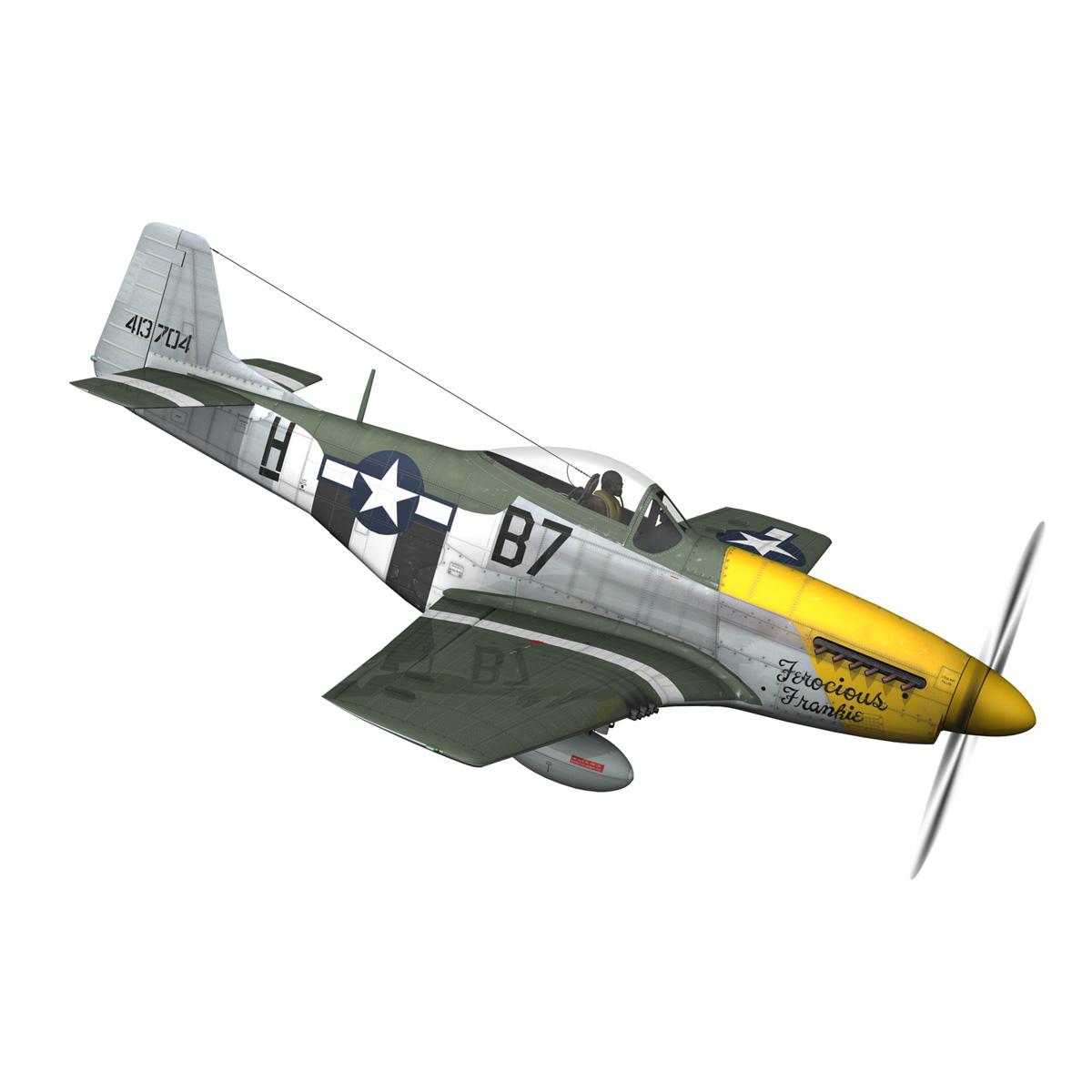 north american p-51d mustang – ferocious frankie 3d model fbx c4d lwo obj 269492