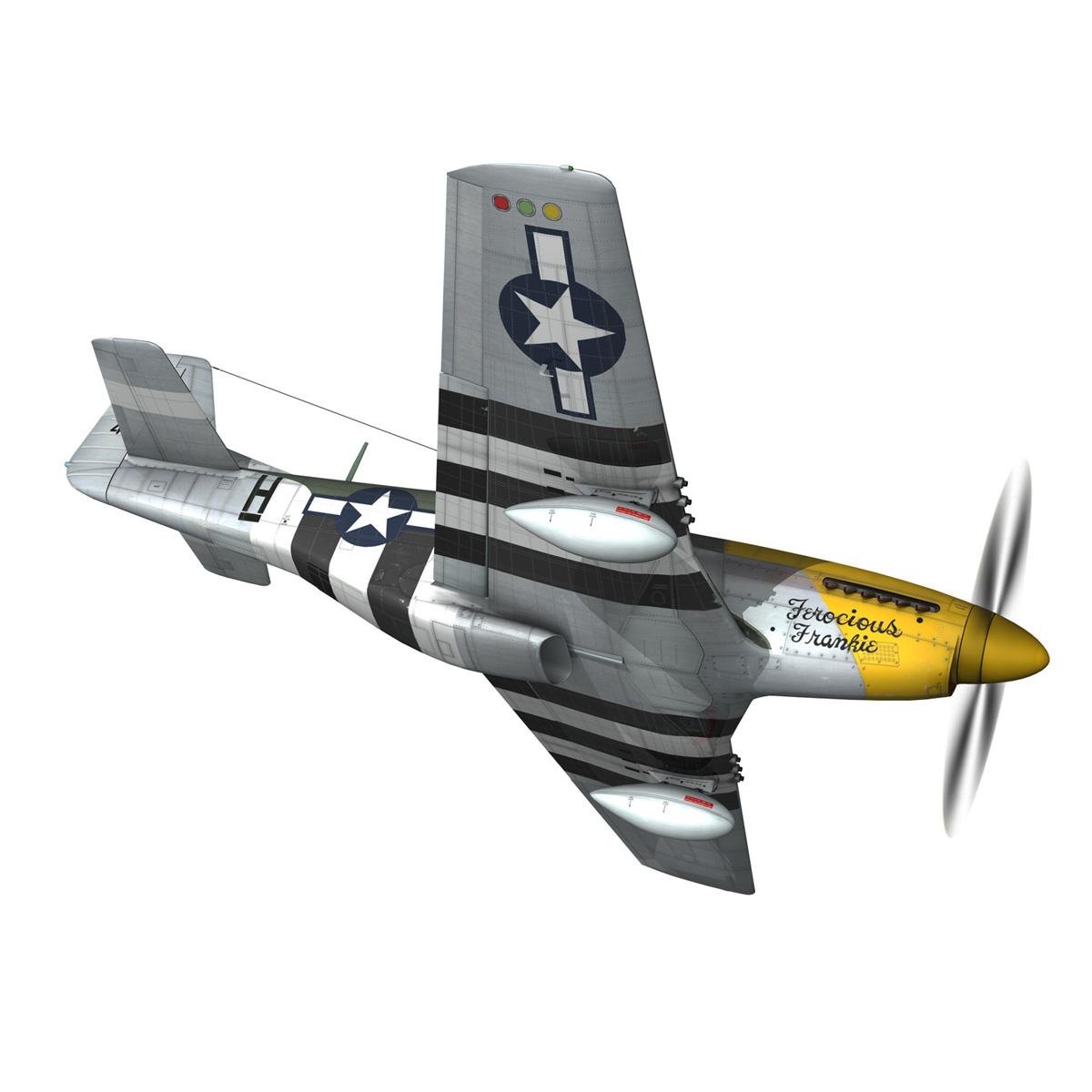 north american p-51d mustang – ferocious frankie 3d model fbx c4d lwo obj 269493