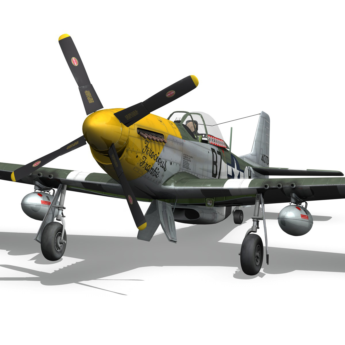 north american p-51d mustang – ferocious frankie 3d model fbx c4d lwo obj 269494
